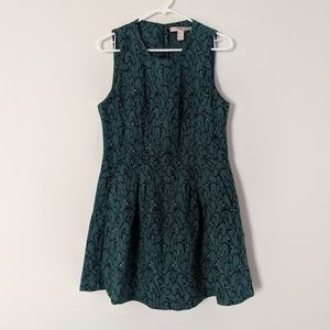 F21 blue & green sleeveless dress sz L